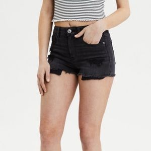 Hi-Rise Shortie Black American Eagle Shorts